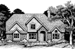 Contemporary House Plan Front of Home - 072D-0635 | House Plans and More