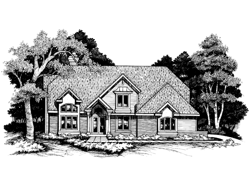 Modern House Plan Front of Home - 072D-0636 | House Plans and More