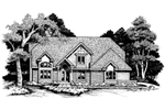 Contemporary House Plan Front of Home - 072D-0636 | House Plans and More