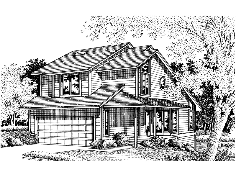 Contemporary House Plan Front of Home - 072D-0637 | House Plans and More