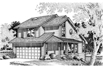 Traditional House Plan Front of Home - 072D-0637 | House Plans and More