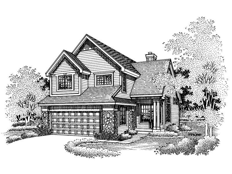 Traditional House Plan Front of Home - 072D-0638 | House Plans and More