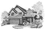 Country House Plan Front of Home - 072D-0638 | House Plans and More