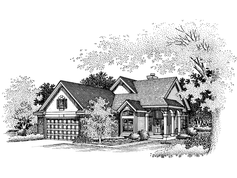 Luxury House Plan Front of Home - 072D-0639 | House Plans and More