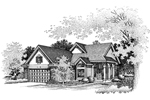Ranch House Plan Front of Home - 072D-0639 | House Plans and More