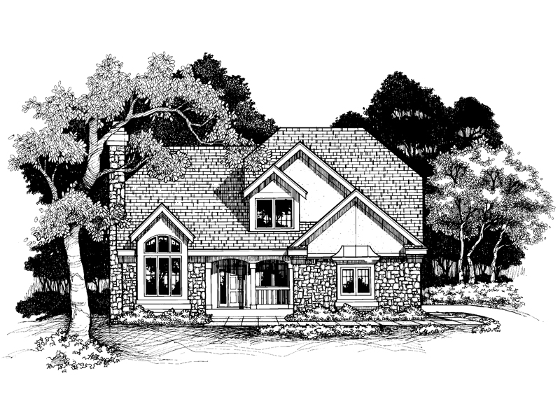 Traditional House Plan Front of Home - 072D-0640 | House Plans and More