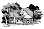 Contemporary House Plan Front of Home - 072D-0640 | House Plans and More