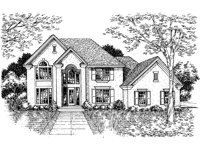 Traditional House Plan Front of Home - 072D-0641 | House Plans and More