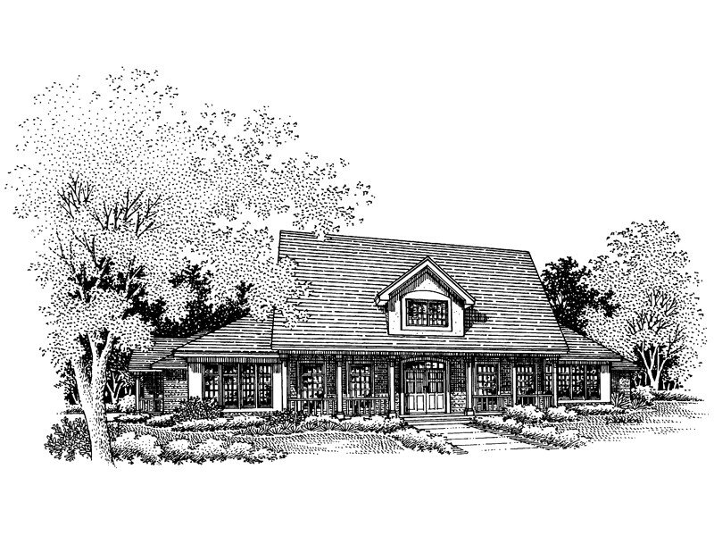 Traditional House Plan Front of Home - 072D-0642 | House Plans and More