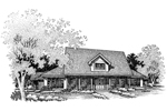 Bungalow House Plan Front of Home - 072D-0642 | House Plans and More