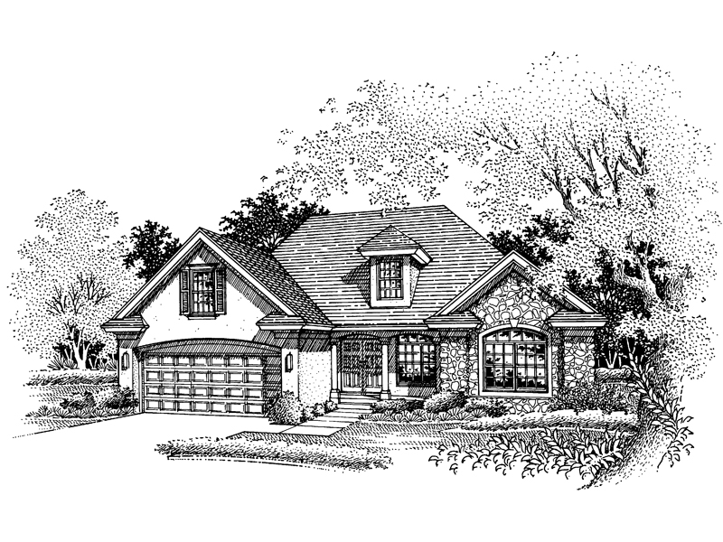 Southern House Plan Front of Home - 072D-0643 | House Plans and More