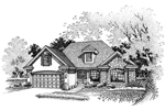 Ranch House Plan Front of Home - 072D-0643 | House Plans and More