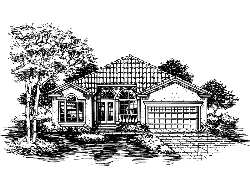 Sunbelt Home Plan Front of Home - 072D-0644 | House Plans and More