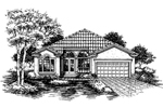 Ranch House Plan Front of Home - 072D-0644 | House Plans and More