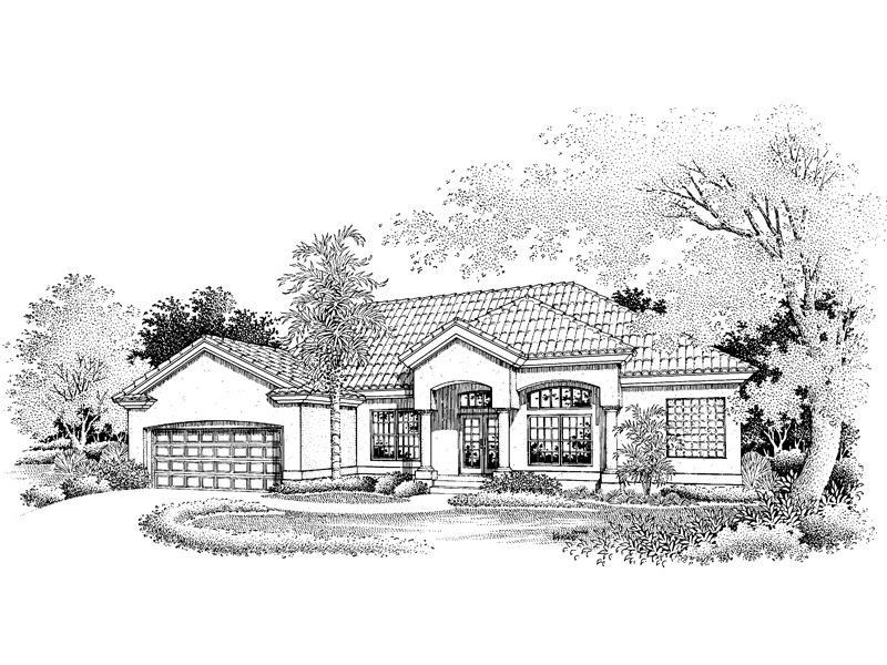 Contemporary House Plan Front of Home - 072D-0645 | House Plans and More