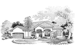 Adobe and Southwestern Plan Front of Home - 072D-0645 | House Plans and More