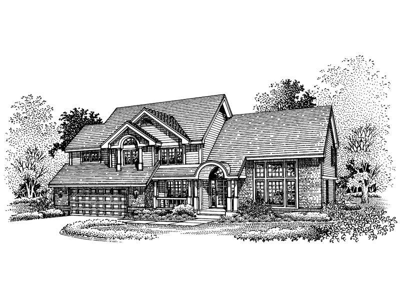 Traditional House Plan Front of Home - 072D-0646 | House Plans and More