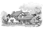 Colonial House Plan Front of Home - 072D-0648 | House Plans and More