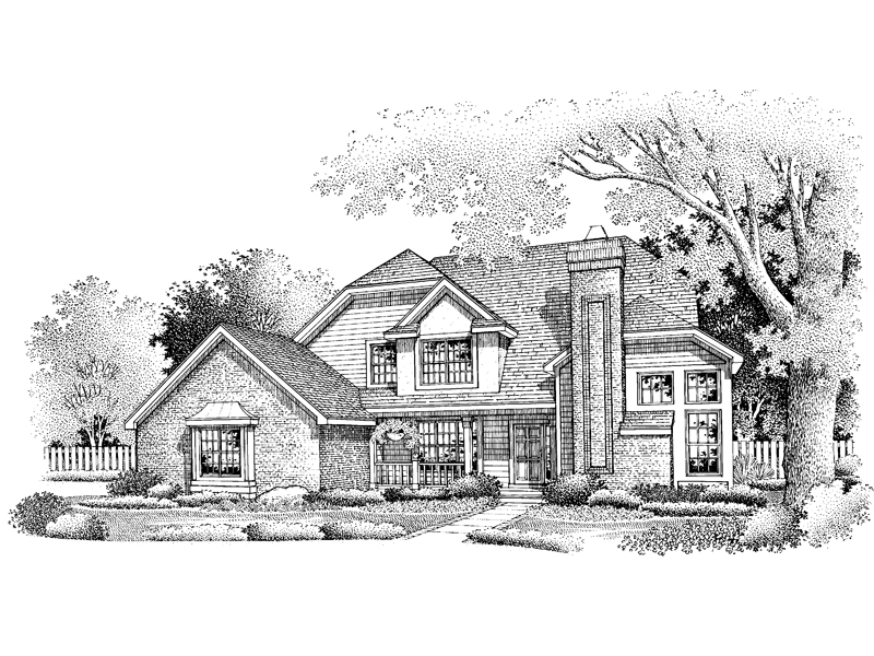 Farmhouse Plan Front of Home - 072D-0649 | House Plans and More