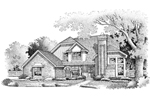 Southern House Plan Front of Home - 072D-0649 | House Plans and More