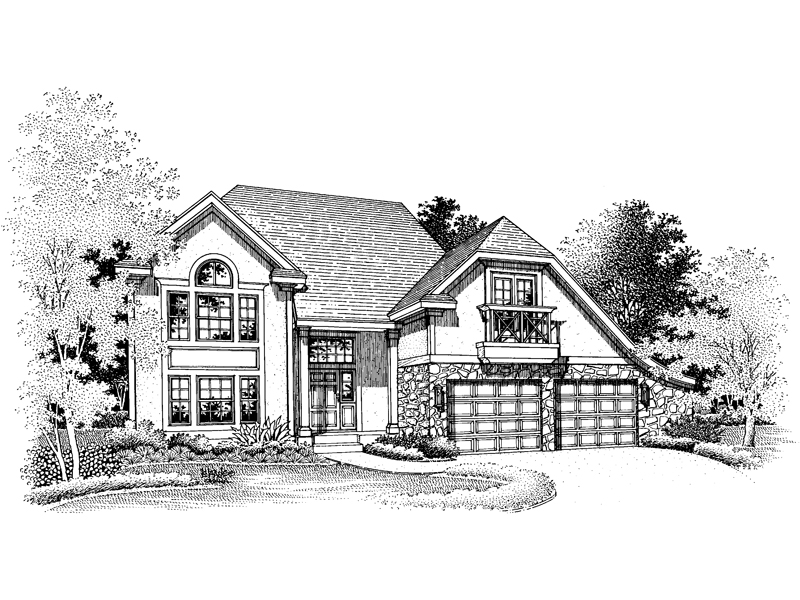Modern House Plan Front of Home - 072D-0651 | House Plans and More
