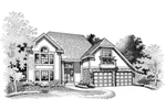 Traditional House Plan Front of Home - 072D-0651 | House Plans and More