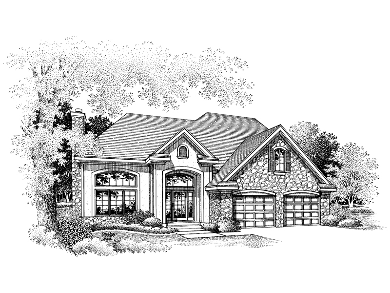 Traditional House Plan Front of Home - 072D-0652 | House Plans and More