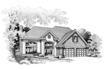 Modern House Plan Front of Home - 072D-0652 | House Plans and More
