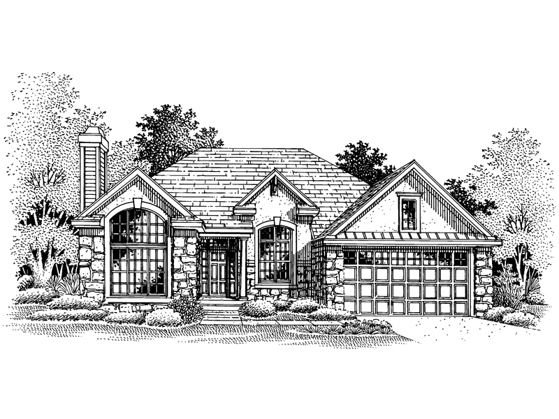 Traditional House Plan Front of Home - 072D-0653 | House Plans and More