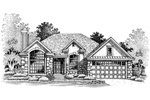 Ranch House Plan Front of Home - 072D-0653 | House Plans and More
