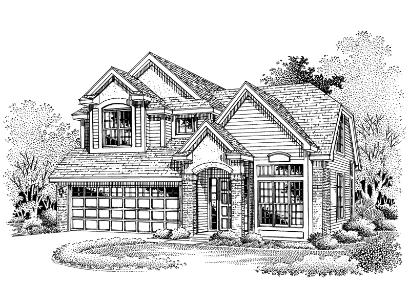 English Tudor House Plan Front of Home - 072D-0654 | House Plans and More