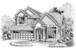 Contemporary House Plan Front of Home - 072D-0654 | House Plans and More