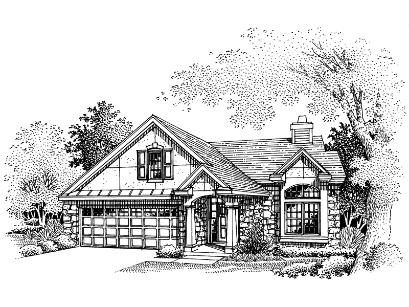 Traditional House Plan Front of Home - 072D-0655 | House Plans and More