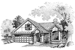 Arts and Crafts House Plan Front of Home - 072D-0655 | House Plans and More