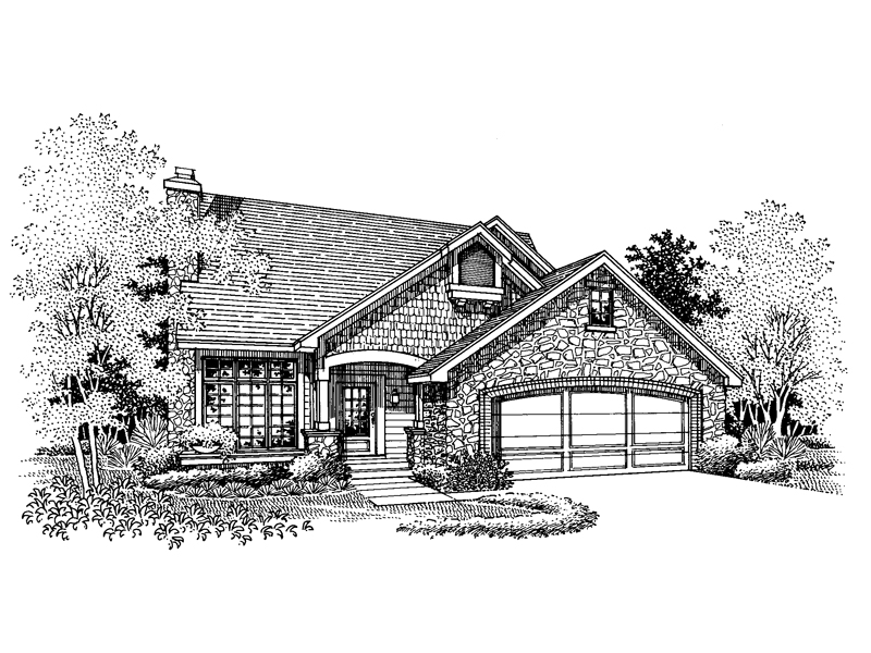 Traditional House Plan Front of Home - 072D-0656 | House Plans and More