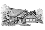 Arts and Crafts House Plan Front of Home - 072D-0656 | House Plans and More