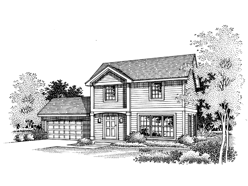 Sunset grove colonial home plan 072d 0657 house plans for Sunset house plans