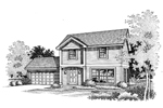 Traditional House Plan Front of Home - 072D-0657 | House Plans and More