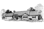 Ranch House Plan Front of Home - 072D-0659 | House Plans and More