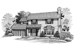 Traditional House Plan Front of Home - 072D-0660 | House Plans and More