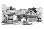 Adobe and Southwestern Plan Front of Home - 072D-0661 | House Plans and More