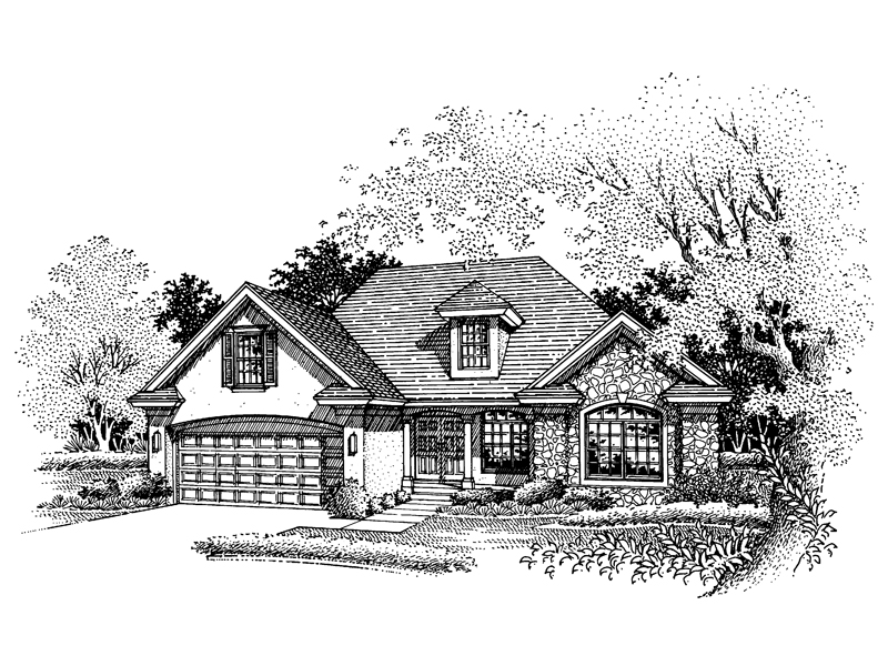 Sunbelt Home Plan Front of Home - 072D-0662 | House Plans and More