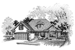 Modern House Plan Front of Home - 072D-0662 | House Plans and More