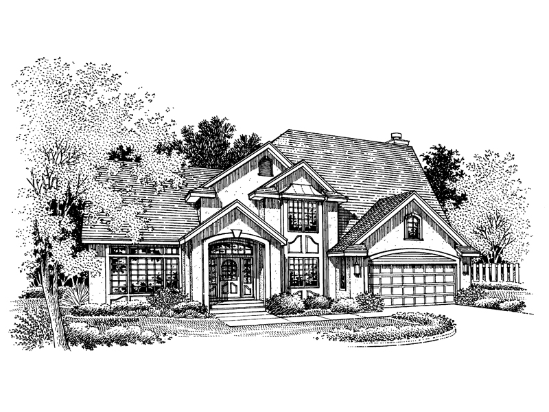European House Plan Front of Home - 072D-0663 | House Plans and More