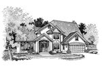 Modern House Plan Front of Home - 072D-0663 | House Plans and More