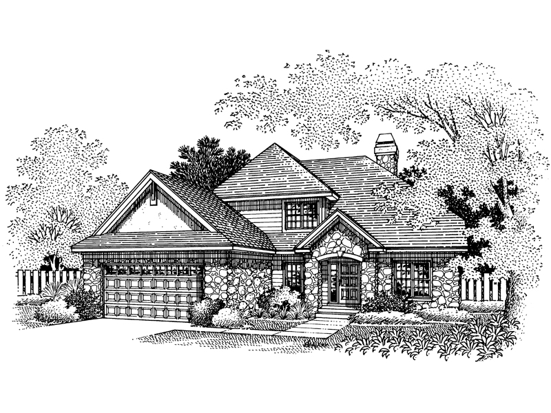 European House Plan Front of Home - 072D-0669 | House Plans and More