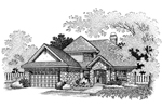 Traditional House Plan Front of Home - 072D-0669 | House Plans and More