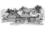 Farmhouse Plan Front of Home - 072D-0670 | House Plans and More
