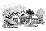 Ranch House Plan Front of Home - 072D-0671 | House Plans and More
