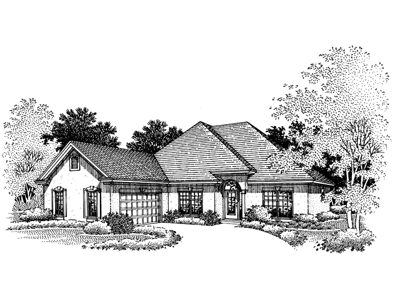 Southern House Plan Front of Home - 072D-0672 | House Plans and More